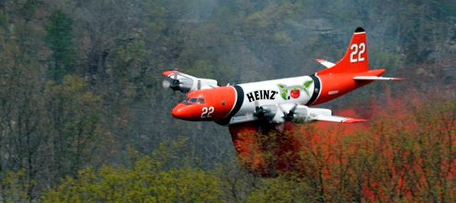 Entries for Photoshop contest, ads on air tankers