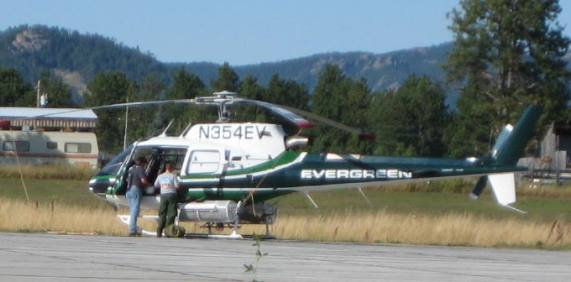 Evergreen helicopter at Custer 2008