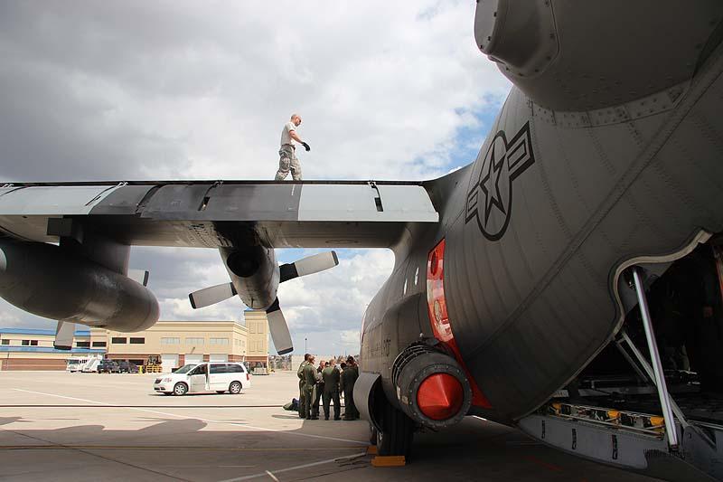 MAFFS air tanker training at Cheyenne, May 7, 2013.