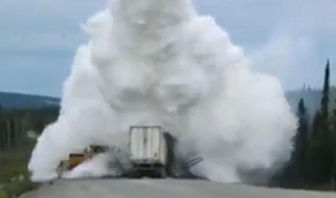 Scooper drop on truck fire