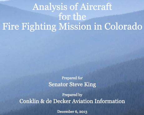 Colorado Air tanker study cover