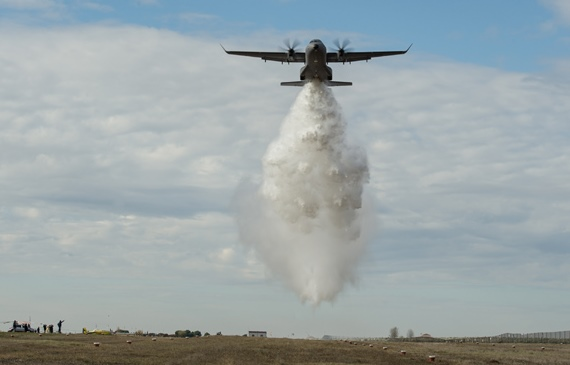 Airbus C295 water drop test