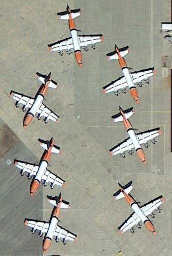 Aero Union P3s at McClellan 8-13-2013