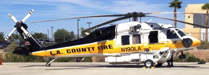 Helicopter training at Los Angeles County