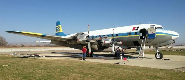 Air Tanker 66 at Paso Robles Air Attack Base