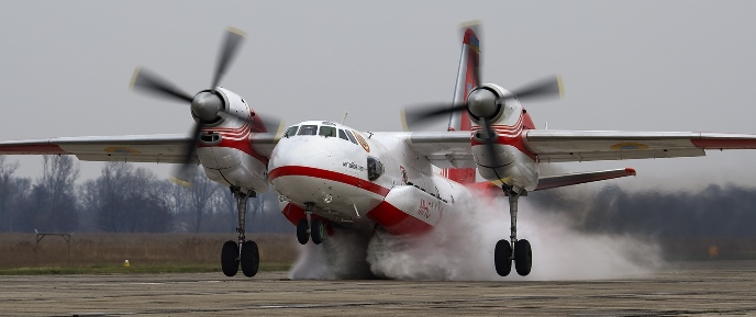 Antonov An-32P Firekiller emergency jettison training