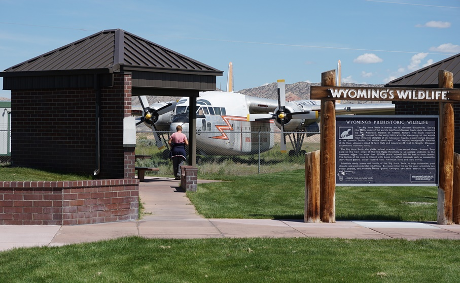 A former Royal Canadian Air Force C-119 at the Greybull Rest Area
