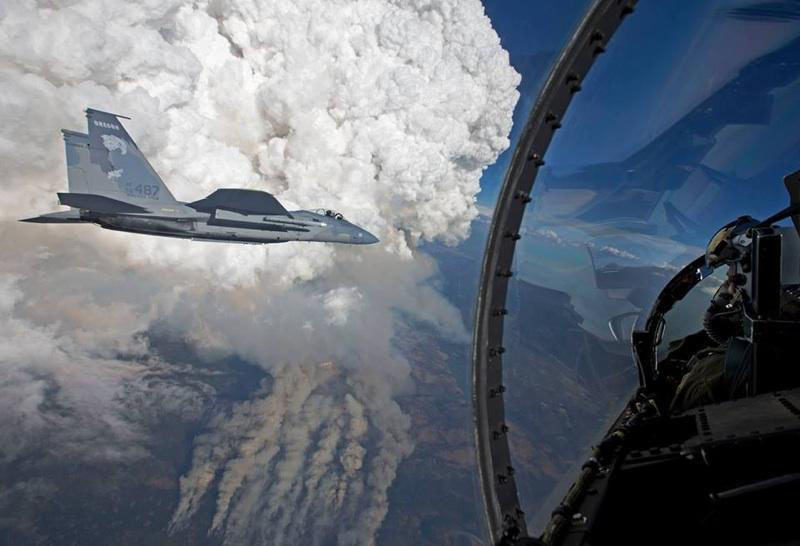 Fighter Jet At Oregon Gulch Fire