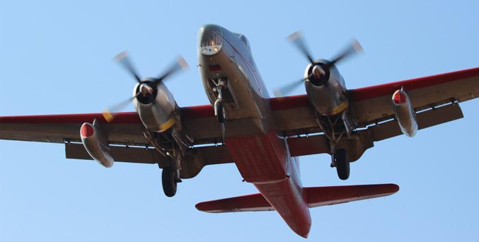 A P2V landing at RDD 8-7-2014