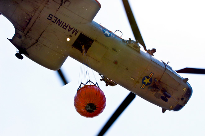 marine helicopter wildfire