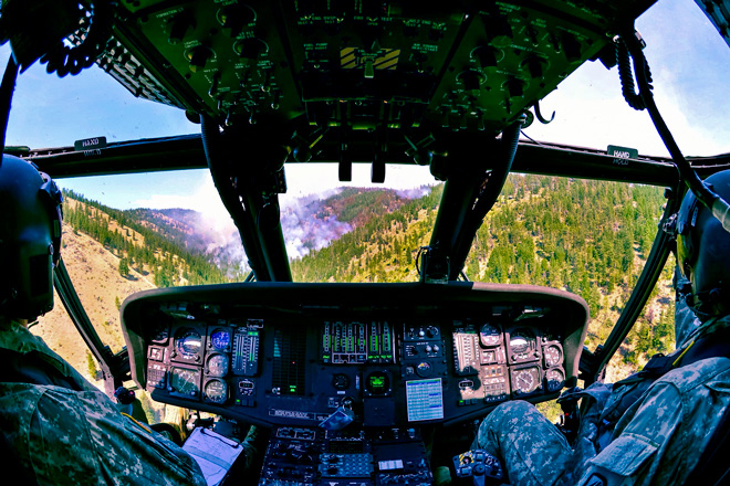 national guard helicopter wildfire