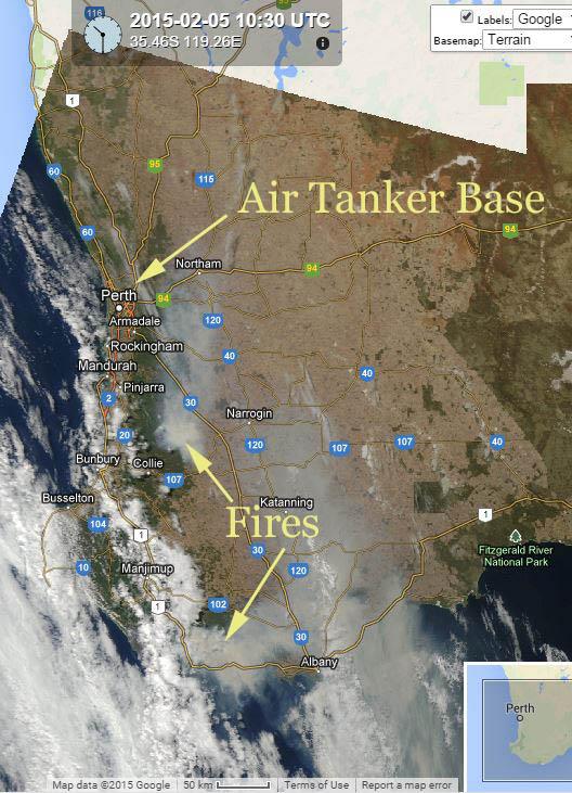 bushfires map western australia