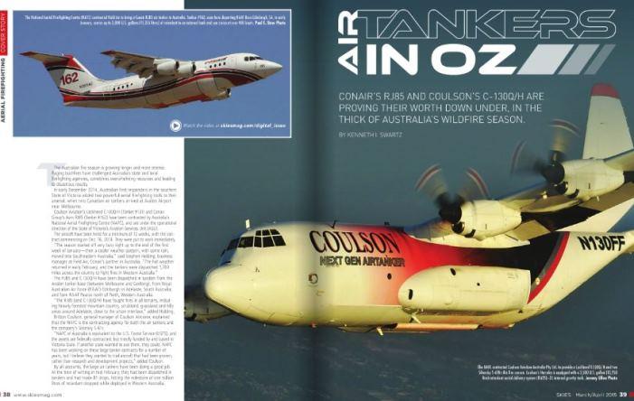 Skies magazine c-130Q RJ85 air tankers