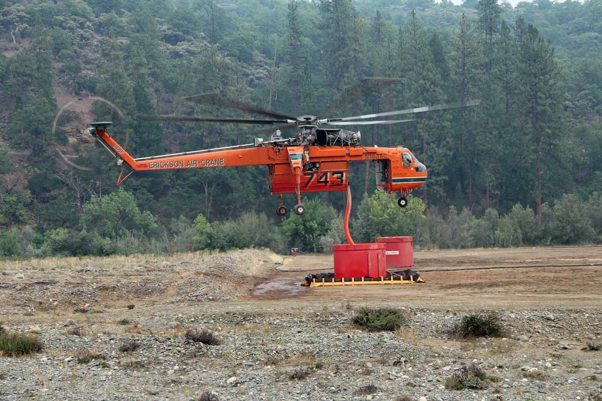 Helicopter 743, an Erickson Air-Crane