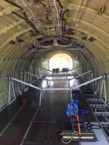 Interior of an air tanker
