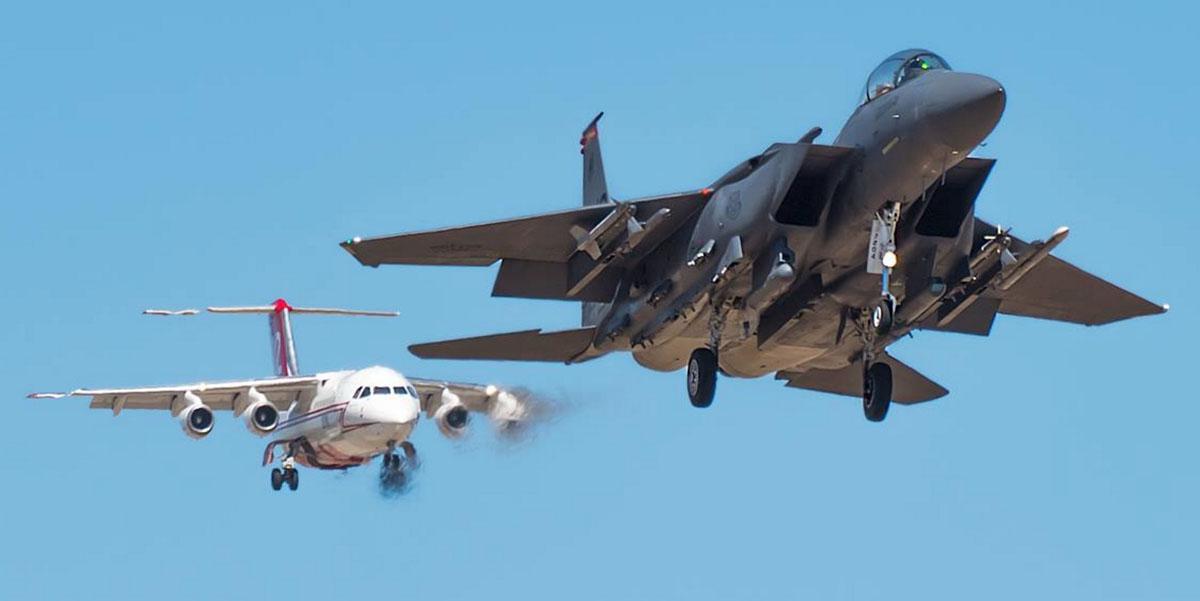 BAe-146 and F-15E