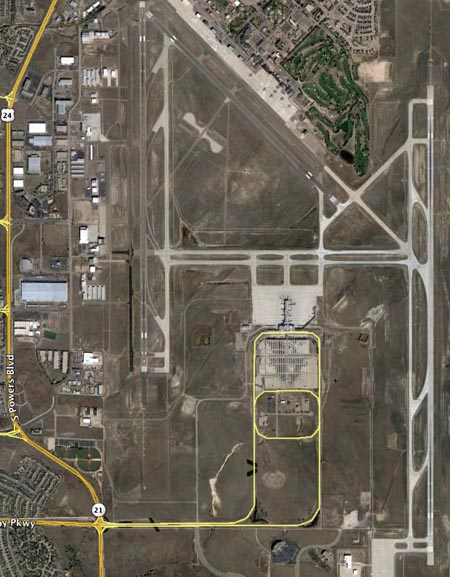Colorado Springs Airport aerial photo