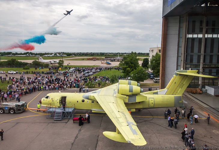 First modernized Be-200 amphibious air tankers rolled out