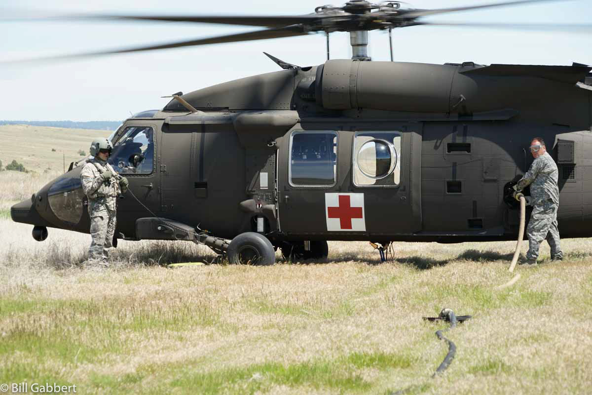 hot refueling Blackhawk helicopter
