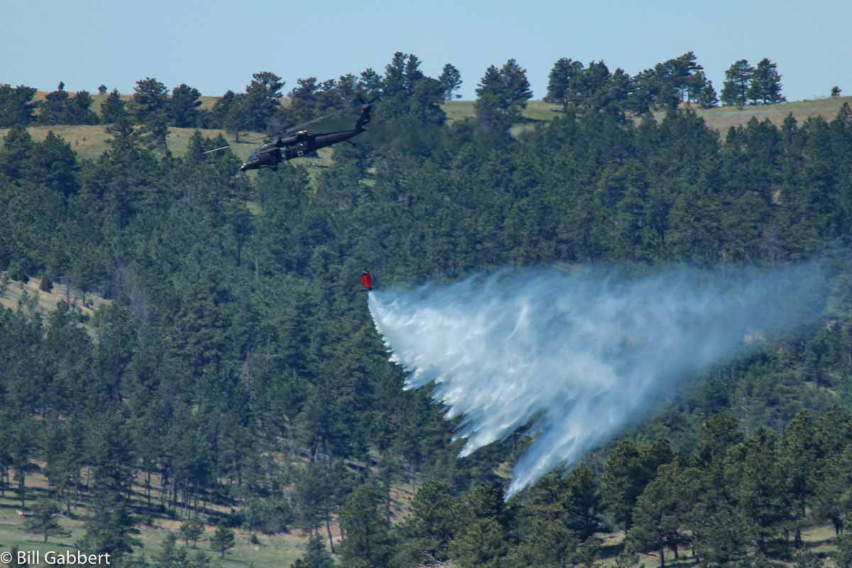 blackhawk helicopter drops water