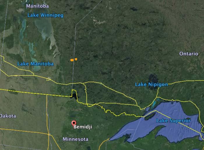 Map Ontario Manitoba US