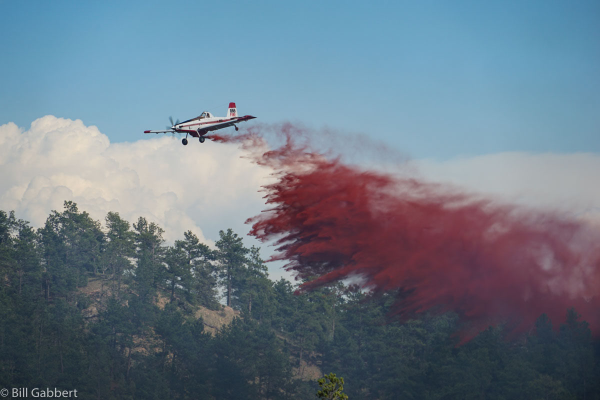 Photos of aircraft on the Red Canyon Fire in the Black Hills of South Dakota