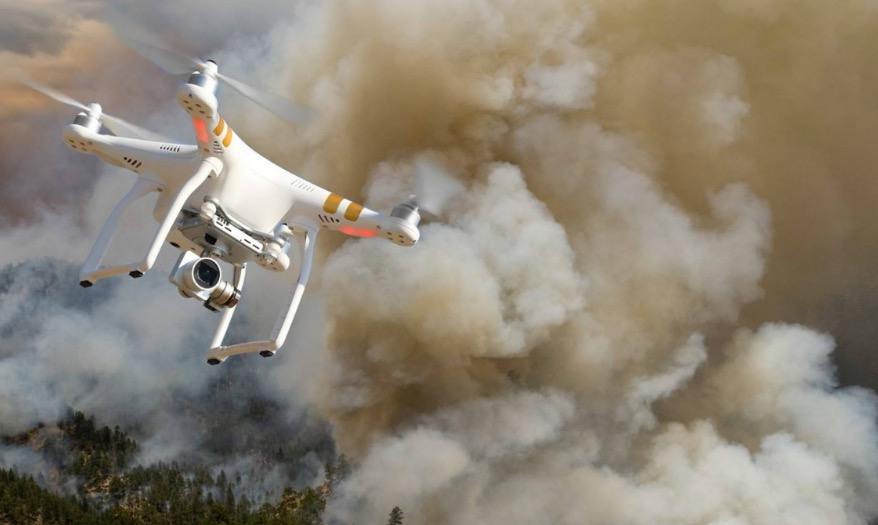 drone forest fire