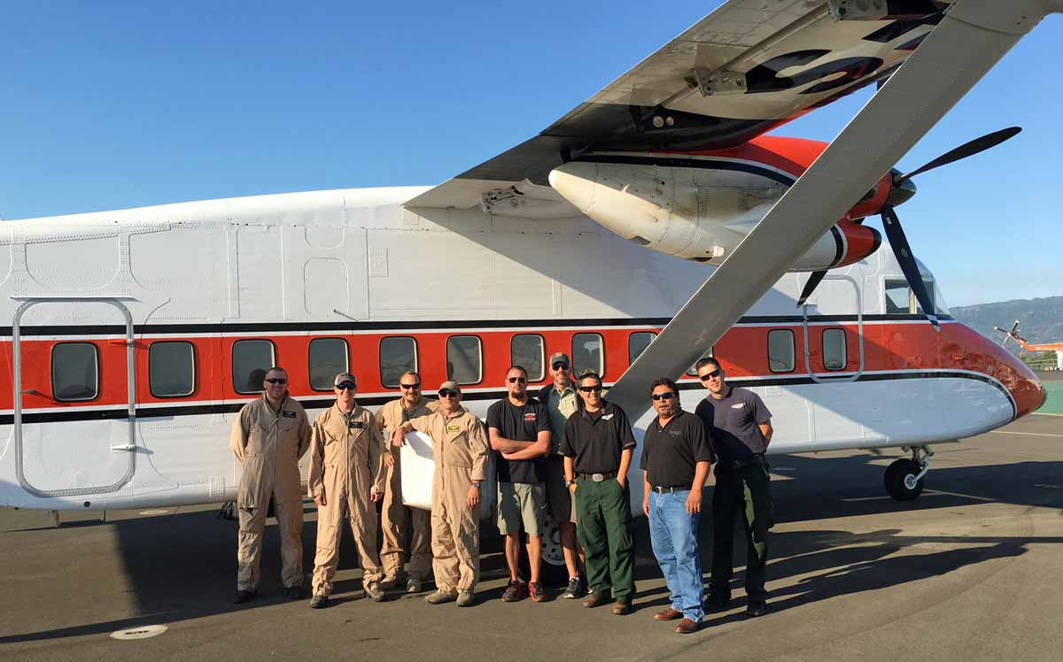 Air Tanker Base Observation team sherpa C-23B