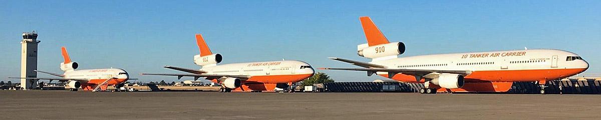 three DC-10 air tankers