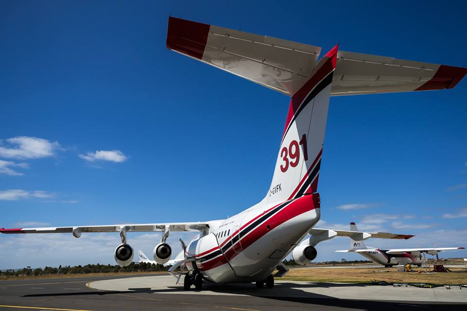 Air tankers at Avalon, Victoria