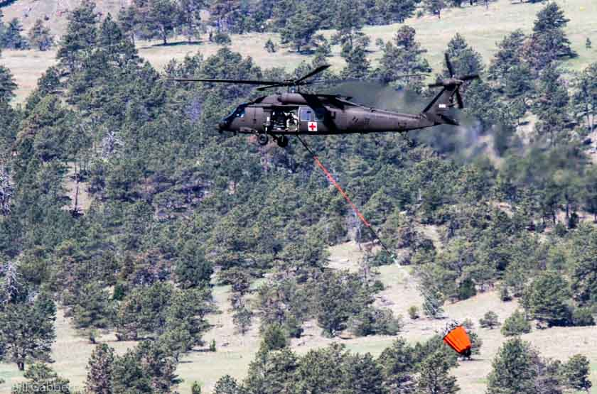 Flying Black Hawks over the Tennessee wildfires