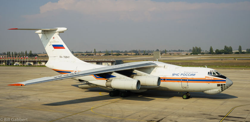 Photos of the IL-76 at Santiago