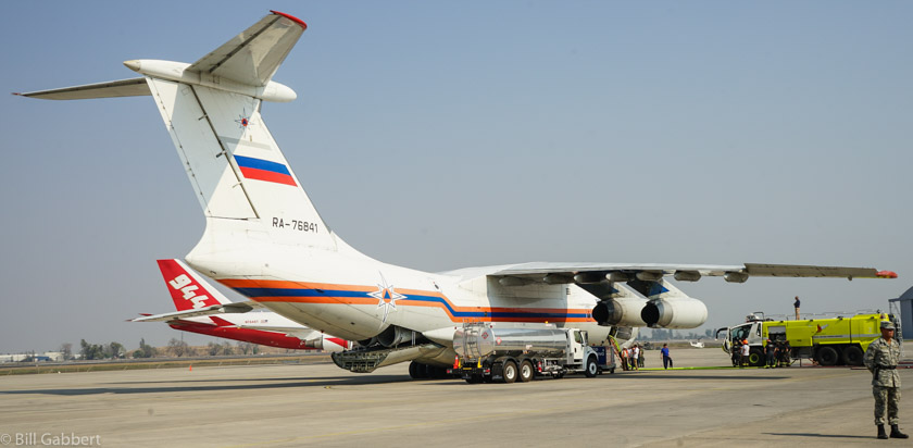 IL-76 russian air tanker