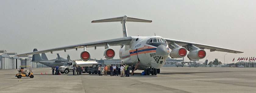 IL-76 goes to work in Chile