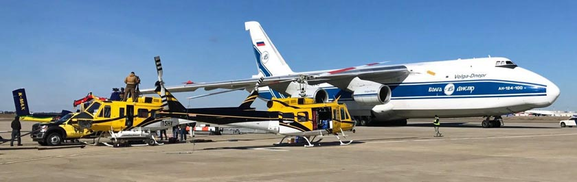 Helicopter Express helicopters Antonov AN-124