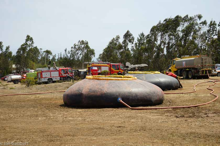 Matanzas wildfire Chile helicopter