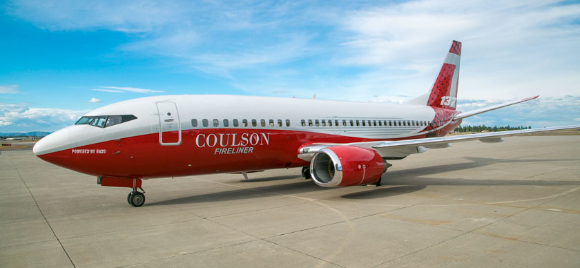 Photos of Coulson's 737-300 air tanker – Fire Aviation