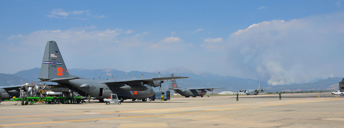 C-130 MAFFS Colorado Springs Waldo Canyon fire
