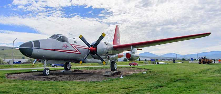 Tanker 10 assumes a place of honor at Missoula Airport