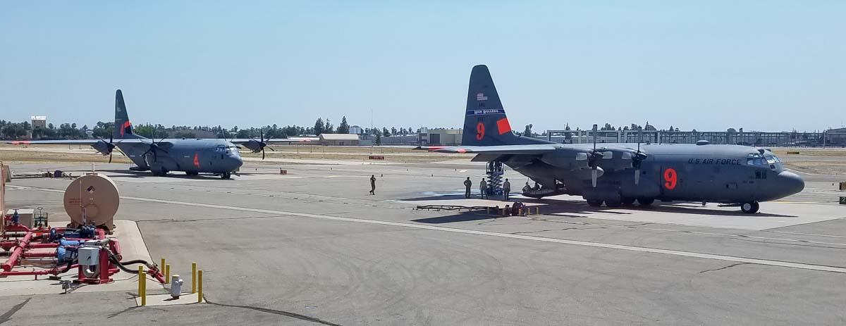 MAFFS air tanker Fresno