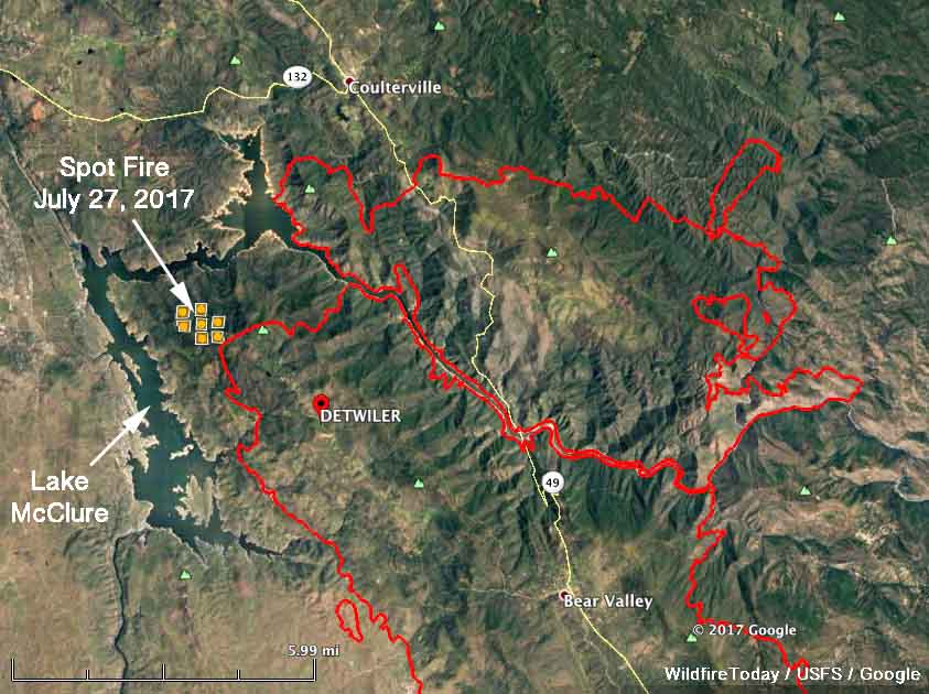 map Detwiler Fire california