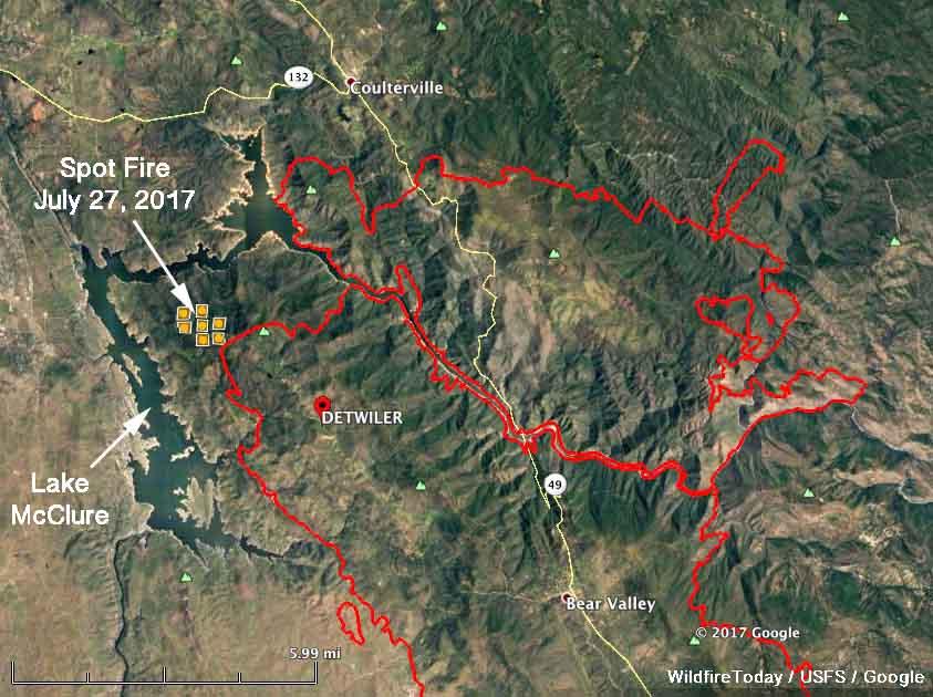 map Detwiler Fire california