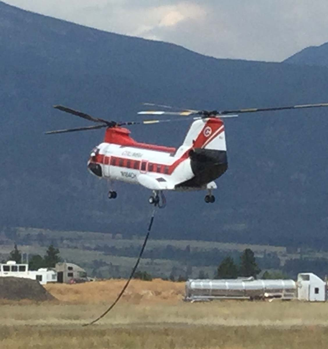helicopters Stevensville Montana wildfire