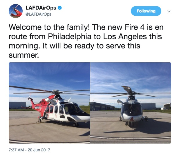 lafd fire 4 helicopter