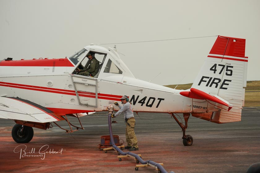 Sheps Canyon Fire air tanker