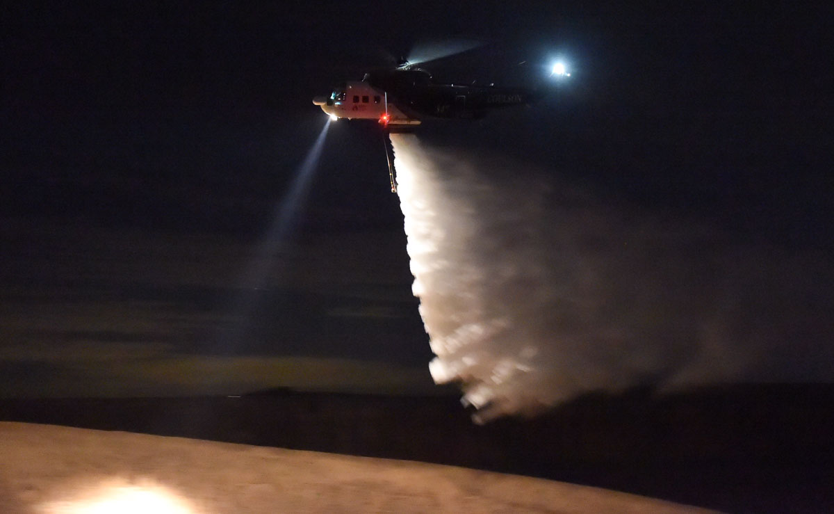 night-flying helicopter Australia