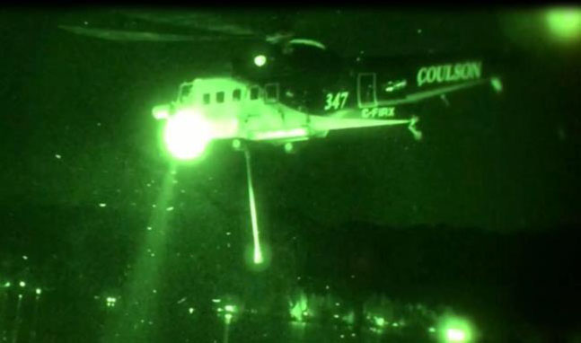 Coulson night-flying helicopter Sikorsky S-61.