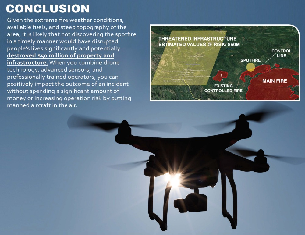 drone wildfire detection