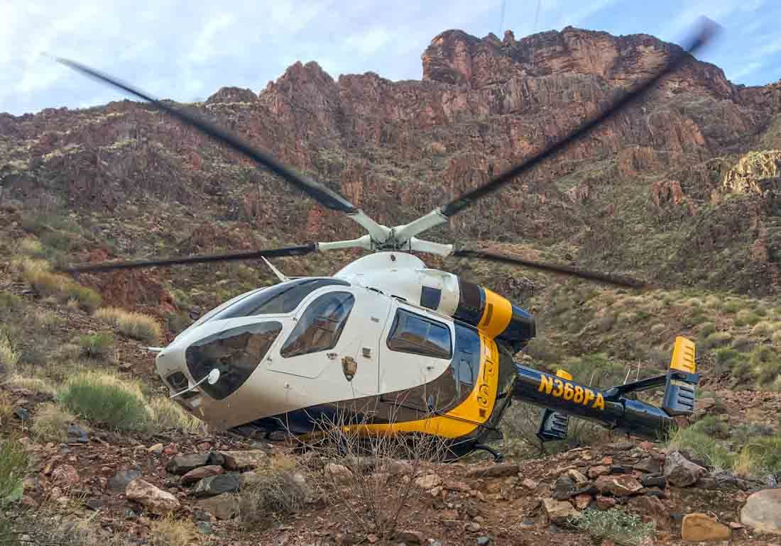 Grand Canyon NP contract helicopter