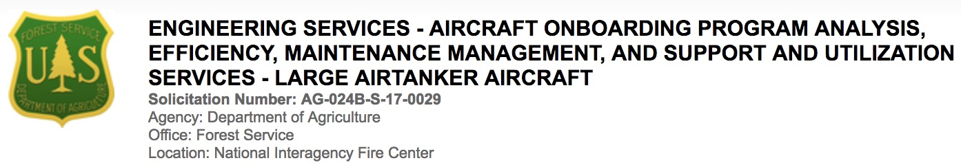 solicitation air tanker support